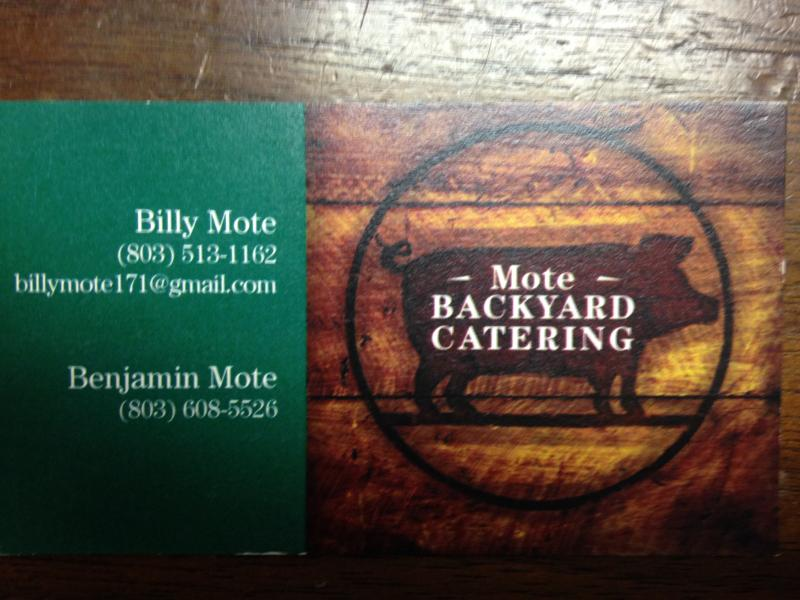 MOTE BACKYARD CATERING - Home